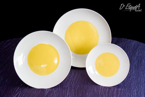 Vajilla Coupe Amarillo